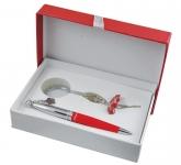 купить Подарочный набор ручка и брелок Амели красный цена, отзывы