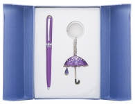 купить Подарочный набор ручка и брелок Эйрин фиолетовый цена, отзывы