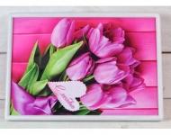 купить Поднос на подушке Тюльпаны с любовью цена, отзывы