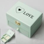 купить Деревянная шкатулка Сердце в сердце цена, отзывы