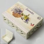 купить Деревянная шкатулка Корзина с лавандой цена, отзывы