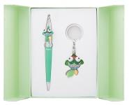 купить Подарочный набор ручка и брелок Антея зеленый цена, отзывы