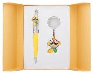 купить Подарочный набор ручка и брелок Антея желтый цена, отзывы