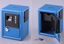 купить Кеш-бокс с кодовым замком и ключем, 12х10х16 см (голубой) цена, отзывы