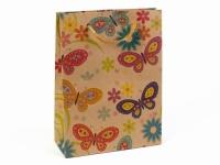 купить Подарочный пакет Крафтовые бабочки  цена, отзывы