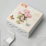купить Деревянная шкатулка Love цветы цена, отзывы