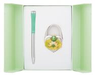 купить Подарочный набор ручка и держатель для сумки Лиций зеленый цена, отзывы