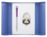 купить Подарочный набор ручка и держатель для сумки Лиций фиолетовый цена, отзывы