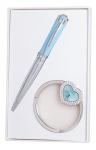 купить Подарочный набор ручка и держатель для сумки Адель синий цена, отзывы