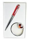купить Подарочный набор ручка и держатель для сумки Адель красный цена, отзывы