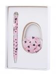 купить Подарочный набор ручка и держатель для сумки Нефтис розовый цена, отзывы
