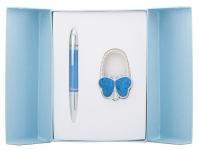 купить Подарочный набор ручка и держатель для сумки Персис синий цена, отзывы