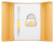 купить Подарочный набор ручка и держатель для сумки Филомена желтый цена, отзывы