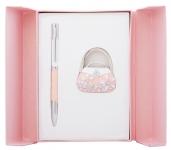 купить Подарочный набор ручка и держатель для сумки Филомена персиковый цена, отзывы