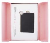 купить Подарочный набор ручка и зеркало Теодора розовый цена, отзывы