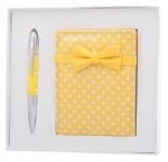 купить Подарочный набор ручка и зеркало Никс желтый цена, отзывы