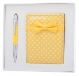 купить Подарочный набор ручка, кошелек для монет и зеркало Ксения желтый цена, отзывы