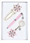 купить Подарочный набор ручка, брелок и закладка Колидора розовый цена, отзывы