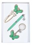 купить Подарочный набор ручка, брелок и закладка Кассандра зеленый цена, отзывы