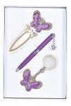 купить Подарочный набор ручка, брелок и закладка Кассандра фиолетовый цена, отзывы