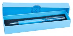 купить Шариковая ручка в голубом подарочном футляре Мидас цена, отзывы