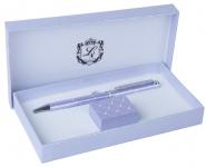 купить Шариковая ручка с подставкой Аглая фиолетовая цена, отзывы