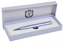 купить Шариковая ручка с кристаллами в подарочной упаковке Аделфи фиолетовая цена, отзывы