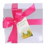 купить Подарочная Коробка серебристая  цена, отзывы