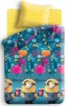 купить Постельное белье для детей и взрослых полуторное Миньоны фабрика цена, отзывы