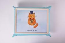 купить Поднос на подушке Mr. Cat цена, отзывы