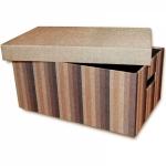 купить Короб с крышкой Коричневые полоски 32х22х14,5 см цена, отзывы