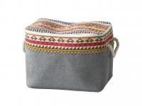 купить Корзина текстильная на молнии Джамал 38х26х26 см цена, отзывы