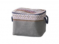 купить Корзина текстильная на молнии Милен 38х26х26 см цена, отзывы