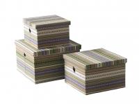 купить Короб текстильний с кришкою Lines 30x30x19 cм цена, отзывы