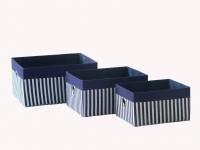 купить Короб Полосы синий 36x27x18см цена, отзывы