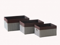купить Короб Полоси коричневый 36x27x18см цена, отзывы