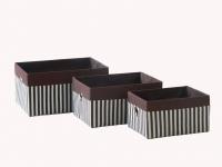 купить Короб Полоси коричневий 26x20x14см цена, отзывы