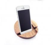 купить Подставка для телефона из дерева Круг цена, отзывы