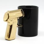 купить Чашка Пистолет с золотой ручкой цена, отзывы