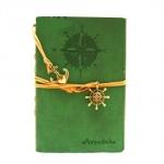 купить Блокнот с эко-кожи Adventure зеленый цена, отзывы
