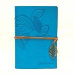 купить Блокнот с эко-кожи Nature голубой цена, отзывы
