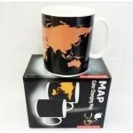 купить Чашка-хамелеон Карта мира цена, отзывы