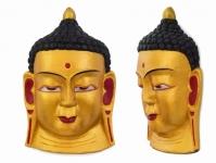 купить Этническая маска Будда 27 см золото цена, отзывы