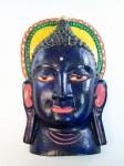 купить Этническая маска Будда 36 см синяя  цена, отзывы