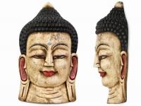 купить Этническая маска Будда 55 см белая цена, отзывы
