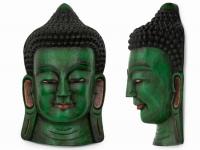 купить Этническая маска Будда 55 см зеленая цена, отзывы