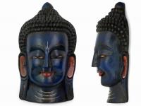 купить Этническая маска Будда 55 см синяя цена, отзывы
