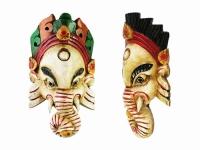 купить Этническая маска Ганеша 23 см слоновая кость цена, отзывы
