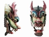 купить Этническая маска Дракон Раджа черный гребень 70 см широкая цена, отзывы