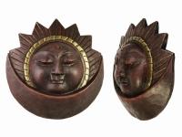купить Этническая маска Солнце и Месяц 19 см цена, отзывы
